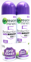 Garnier Mineral Protection deo duo paket 2 * 150 ml