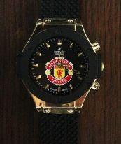 Мъжки часовник  HUBLOT GENEVE MANCHESTER UNITED със силиконова верижка