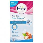Veet Easy - Gelwax Ленти за бикини линия и подмишници за чувствителна кожа 16 бр.