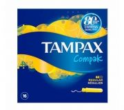 Tampax Compak Regular 16 pieces Тампони с апликатор 16 броя