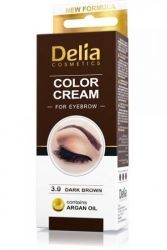 Delia Color Cream 3.0 Dark Brown Argan Oil 15 ml боя за вежди  комплект