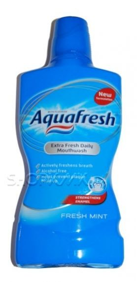 AQUAFRESH EXTRA FRESH DAILY ВОДА ЗА УСТА FRESH MINT 500ml