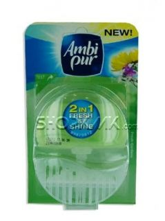 Ambi Pur Fresh&Shine 2in1-Тоалетно блокче Свежа градина 55мл