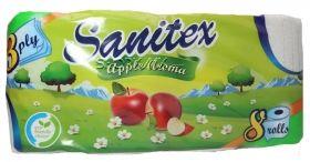 Sanitex Apple Aroma Тоалетна хартия 3 пластова 8бр