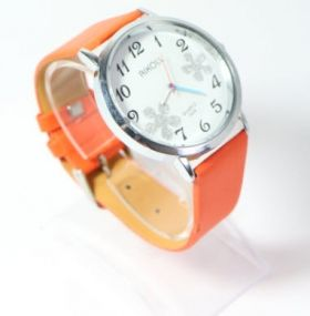 Часовник Aikoll с цветя /червен и оранжев/