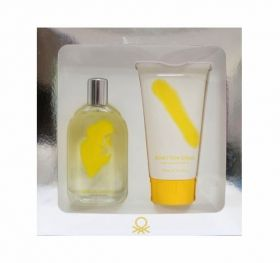 BENETON GIALLO WOMAN КОМПЛЕКТ EDT 100 ML+ DUSH GEL 150ML