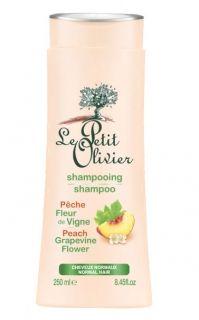 Le Petit Olivier Шампоан за нормална коса с екстракт от Праскова и Цвят на лоза 250мл