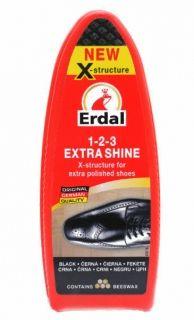 Erdal Гъба черен гланц за обувки с натурален пчелен восък