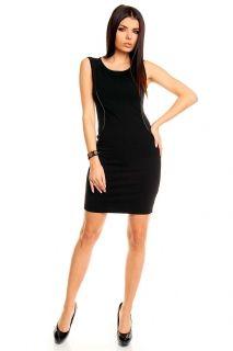 Дамска черна рокля с леки мотиви KIMI&CO PARIS 076