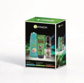 GARNIER комплект с Fructis Detox шампоан,  Fructis Style Survivor гел, Protection 5 мъжки дезодорант