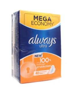 ALWAYS ULTRA MEGA ECONOMY NORMAL PLUS 4 капки 40броя