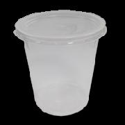 Опаковка 500 мл. кръгла външен капак  100 бр . в пакет