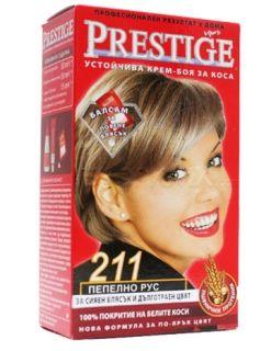 Vip's Prestige Устойчива крем-боя за коса №211 Пепелно рус