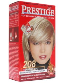 Vip's Prestige Устойчива крем-боя за коса №208 Пепелно рус