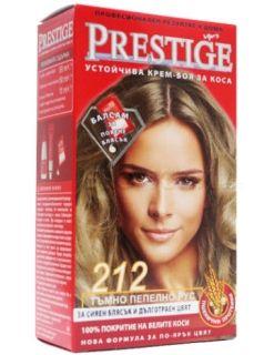 Vip's Prestige Устойчива крем-боя за коса №212 Тъмно пепелно рус