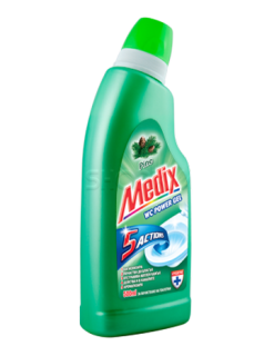 Medix Wc Power Gel 5 Actions Бор  Почистващ препарат за тоалетни  500+250 ml Гратис