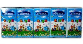 Gama Soft Kids Трипластови носни кърпи с аромат на ягода (10бр в стек)