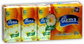 Gama Soft Трипластови носни кърпи с аромат на лайка (10бр в стек)