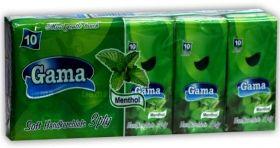 Gama Soft Трипластови носни кърпи с аромат на мента (10бр в стек)