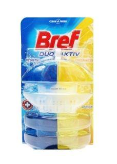 Bref WC Duo-Aktiv Ароматизатор за тоалетна чиния Лимон Кошница 3Х60мл