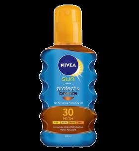 Nivea Protect & Brozne Спрей Олио SPF 30-Висока защита 200мл