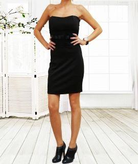 Къса дамска рокля с дантела под бюста