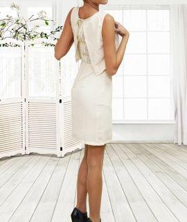 Елегантна дамска рокля с дантелен гръб