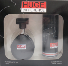 HUGE DIFFERENCE  КОМПЛЕКТ Men edp 100 ml + deo 150 ml