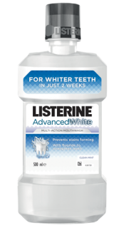 LISTERINE® Advanced White Вода за уста 500ml