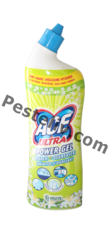 ACE Ultra Power Gel Bleach+Degreaser Lemon 750mL