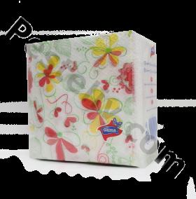 Gama Еднопластови целулозни салфетки с печат 28/28см