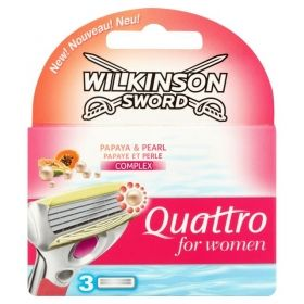 Wilkinson Sword Quattro for Women Papaya & Pearl резервни ножчета 3бр.