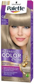 Боя за коса Palette Intensive Color Creme C8 Платитено Рус
