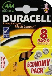 DURACELL AAA LR03 8 бр опаковка