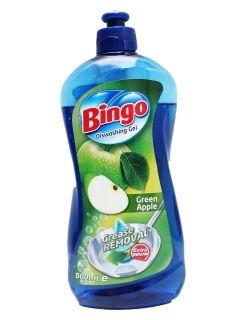 Bingo Препарат за миене на съдове Green Apple  500мл