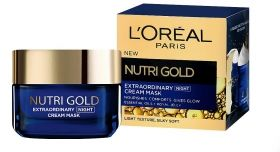 L'Oreal Nutri-Gold Extraordinary Cream Mask Нощна крем-маска за лице с етерични масла и пчелно млечице 50мл.