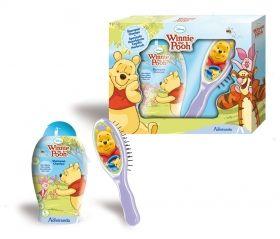 Мечо Пух, Комплект за деца - Нежен шампоан за коса, 250 мл. + Четка за красива коса 2D