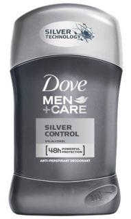 Dove Men+Care Silver Control Стик против изпотяване за мъже 50мл.