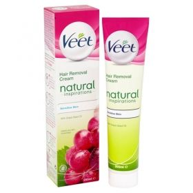 Veet Natural Inspirations Депилиращ крем с масло от грозде за чувствителна кожа 100мл