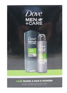 Dove Men + Care комплект set gift Sower gel Extra Fresh  250ml + Deo Extra Fresh 150 ml