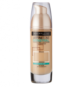 Maybelline Affiniton Mineral Perfecting + Soothing Foundation 21 Nude Фон дьо тен