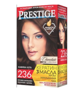 Vip's Prestige Устойчива крем-боя за коса №236 Кафява нуга