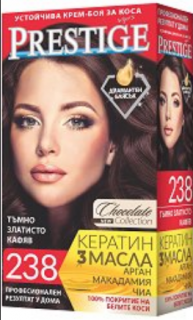 Vip's Prestige Устойчива крем-боя за коса №238 Тъмно златисто кафяв