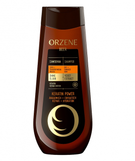 Orzene Beer Keratin Power Шампоан за суха и увредена коса 400мл