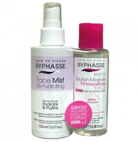 BYPHASSE Face Mist Re-hydrating 150 ml & Micellar Make-Up Remover Solution 100 ml Рехидратиращ лифтинг за лице 150 мл &  Мицеларна вода 100 мл