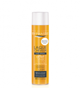 BYPHASSE Hair Spray Natural Effect Extra Strong 400 ml Лак за коса с кератин 400 мл