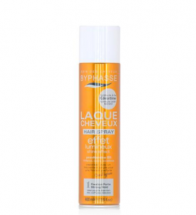 BYPHASSE Hair Spray Shine Effect  Strong  Hold 400 ml Лак за коса с кератин 400 мл