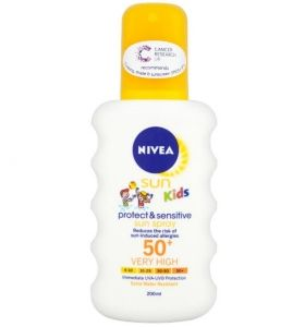 Nivea Sun Kids Protects & Sensitive Sun Spray SPF 50 Детски спрей 200 мл
