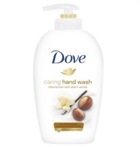 Dove Caring Hand Wash Shea Butter With Warm Vanilla 250 ml Течен Сапун за ръце