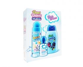 Malizia Bon Bons Blue Dreams Tropikal Berry 75 ml Deo + EDT Milk Shake 50 ml + Blackberry Shower Foam 250 ml  Детски комплект
